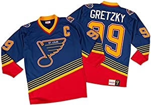 Wayne Gretzky St. Louis Blues Mitchell & Ness Authentic 1995 Blue NHL Jersey
