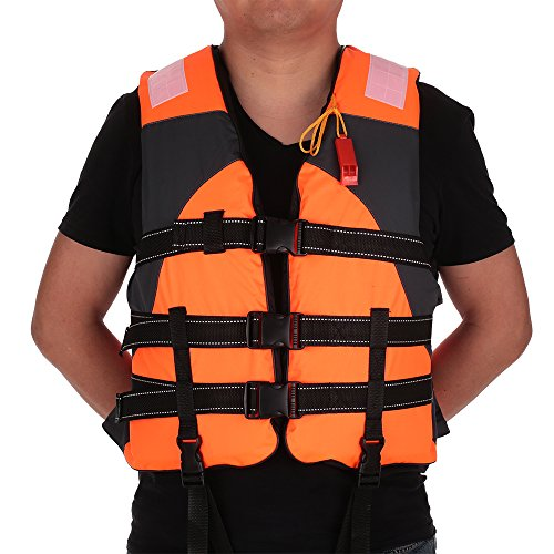 Ezyoutdoor Outdoor Adult Lifesaving Life Jacket Vest Swimming Marine Life Jackets Safety Survival Suit Aid for Water Sport Fishing (West Marine Inflatable)
