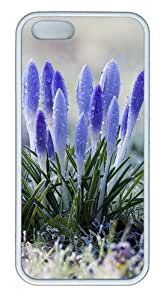 Amazing Flowers with Dew Drops Customizable TPU Cases & Covers for iPhone 5S/5 - White