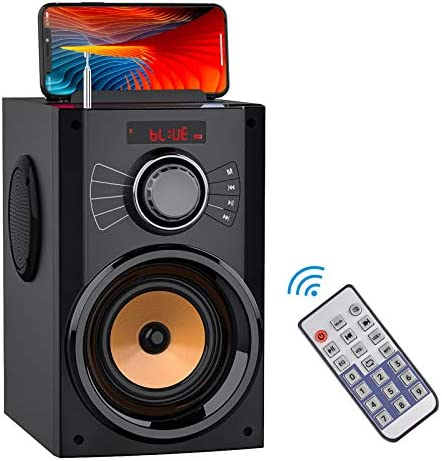 Transportable Bluetooth Speaker with Subwoofer Wi-fi Audio system Outside/Indoor Huge Speaker Help Distant Management FM Radio TF Card LED Lights MP3 Participant Social gathering Speaker for House Tenting iPhone Pc PC