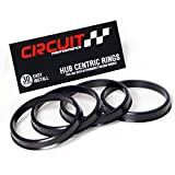 108mm OD to 78.1mm ID Circuit Performance Black Plastic Polycarbonate Hub Centric Rings