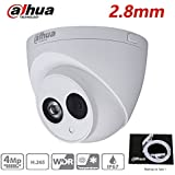 Dahua 4MP HD Security Camera, IPC-HDW4433C-A 2.8mm, Network Camera, Night Vision, Eyeball Dome IP Camera, 4 Megapixel IR 50M Better Night Vision H.265 HD IP67 ONVIF