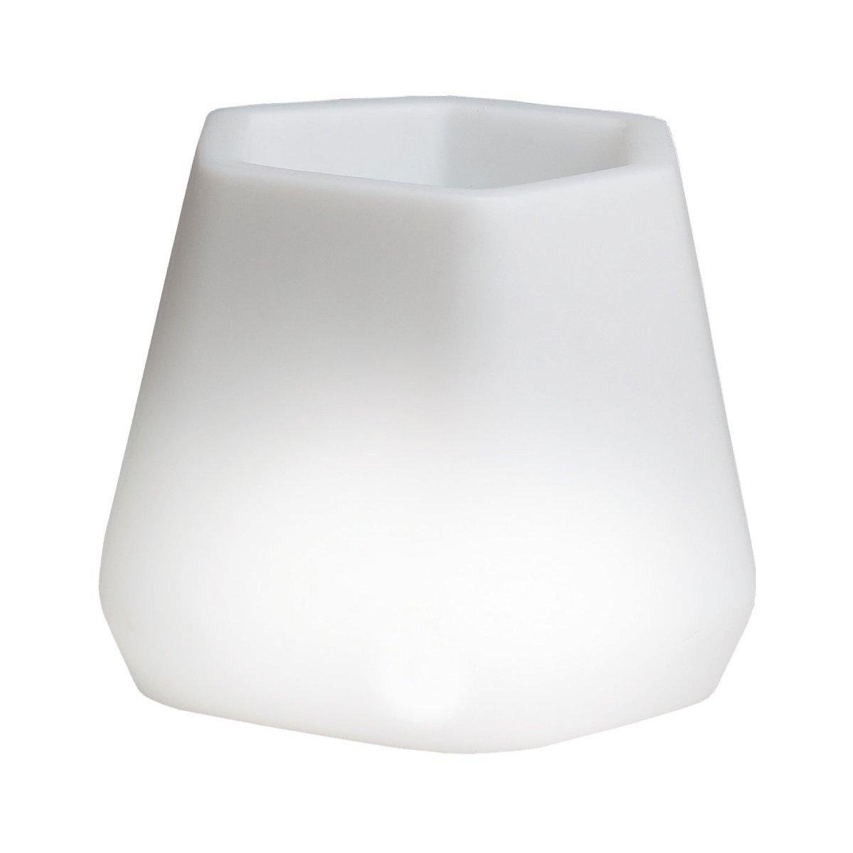 hydroflora 63005300 Nicoli LED-Leuchttopf OPS Small Light, weiß, 40 x 35 x 27 cm