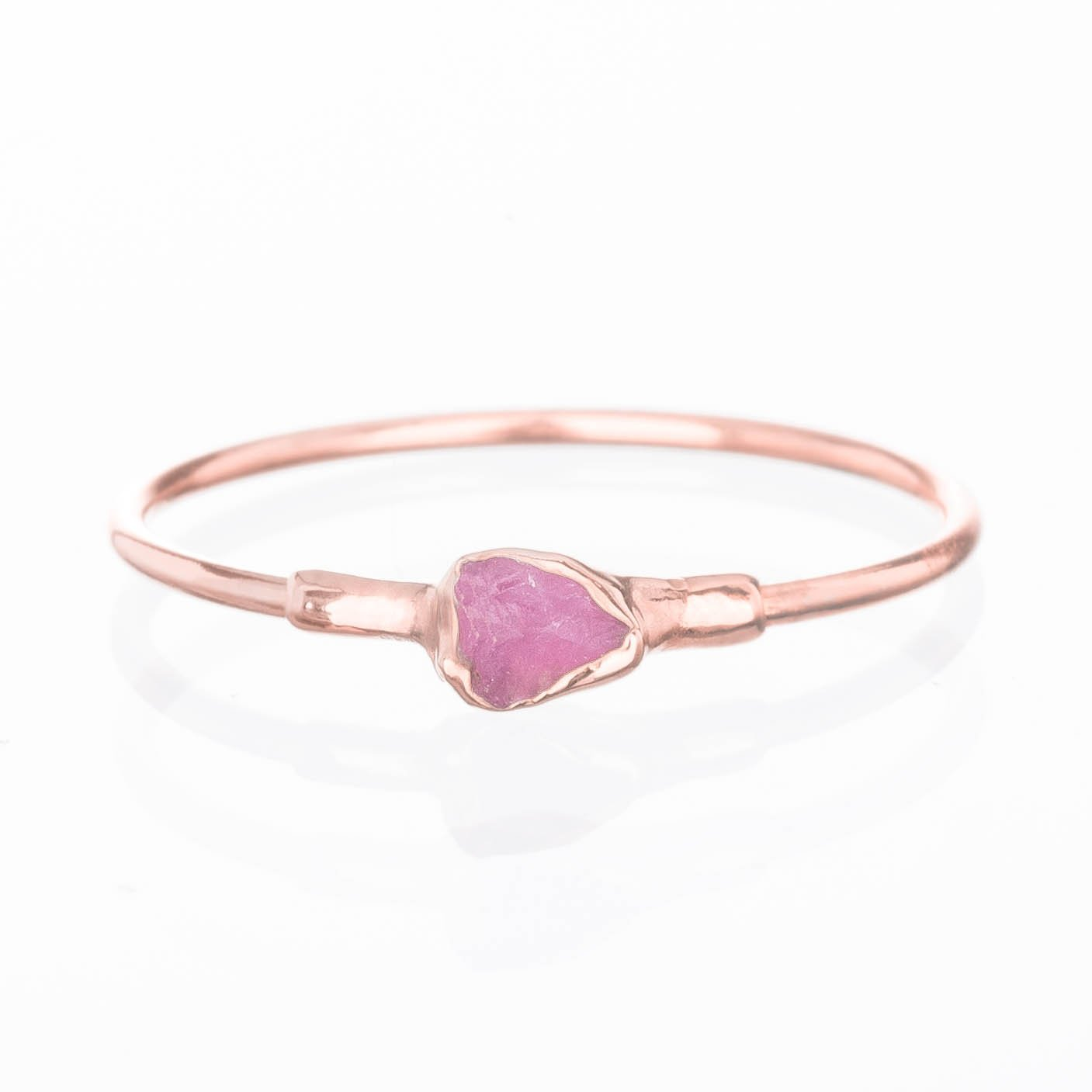 Raw Ruby Ring, Rose Gold, Size 6, Dainty Boho Style Jewelry