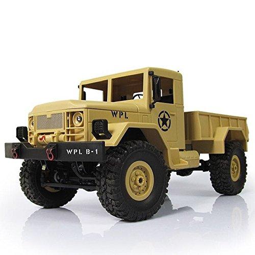 Kit 4wd Parts (DishyKooker WPL B-1 DIY Car Kit 1/16 2.4G 4WD RC Crawler Off Road Car Without Electronic Parts ATR Yellow)