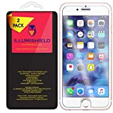 iPhone 7 Screen Protector [2-Pack], iLLumiShield HD Clear Tempered Ballistic Glass Screen Protector for iPhone 7 9H Hardness Anti-Bubble Shield - Lifetime Warranty