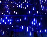 YSIM Meteor Shower Rain Lights - Ultra Bright Romantic Lights for Party - Wedding - Christmas - etc.11.8inch 8 Tubes (Blue)