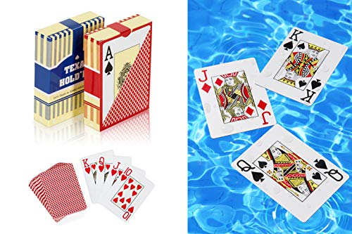 2 Deck of Plastic Waterproof Poker Cards and Playing Cards with Flexible PVC and Classic Trick Cards Pool Beach Water Card -