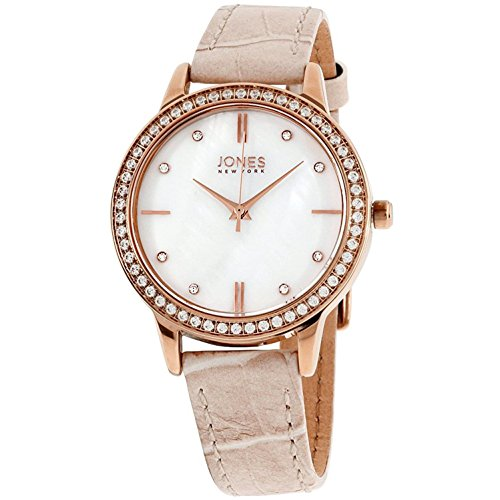 Jones New York MOP Dial Leather Strap Ladies Watch 11536R528-822 by Jones New York