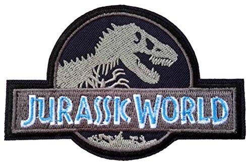 JURASSIC WORLD Logo Patch Jurassic Park Fallen Kingdom Dinosaur Theme Series New 2018 Movies Embroidered Sew/Iron on Badge DIY Appliques
