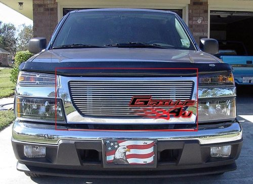 APS G85474A Polished Aluminum Billet Grille Replacement for select GMC Canyon ()
