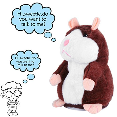 KateDy Mimicry Pet Talking Hamster - Repeats What You Say St