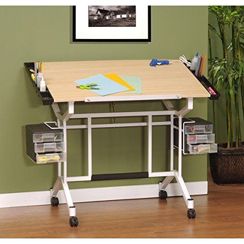 Studio Designs Maple/ White Pro Drafting and Craft Station Table by Studio Designs