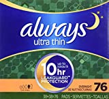 Always Ultra Overnight With Wings, Unscented Thin Pads Review and Comparison