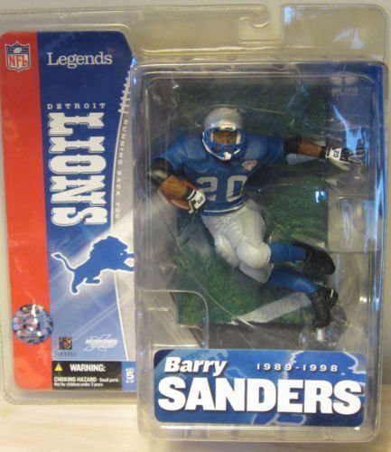 Barry Sanders Mcfarlane NFL Legends Series Detroit Lions Blue Jersey Thanksgiving Throwback Jersey