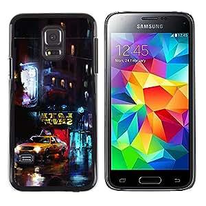 LECELL--Funda protectora / Cubierta / Piel For Samsung Galaxy S5 Mini, SM-G800 -- Nueva York Yellow Cab --