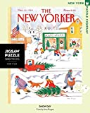 New York Puzzle Company - New Yorker Snow Day - 500 Piece Jigsaw Puzzle