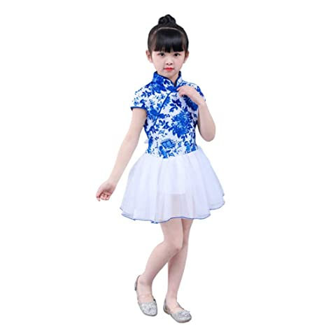 Disfraces de Baile - Tutú de Coro de Porcelana Azul y Blanca for ...
