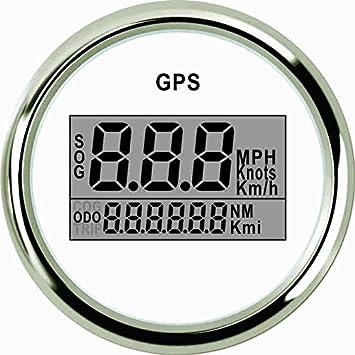 52mm Universal 0-999 Knots Car Truck GPS Digital Speedometer Red LED Gauge Meter