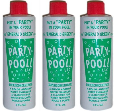 3 PACK - Party Pool Color Additive Green Lagoon (Party Pool)