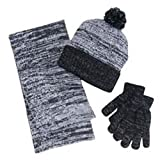 bershire fashion Berkshire Fashion 3 Piece Set Hat Glove & Infinity Scarf