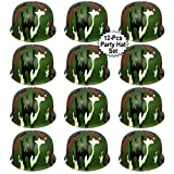 Anapoliz Army Helmets for Kids | 12 Count Plastic