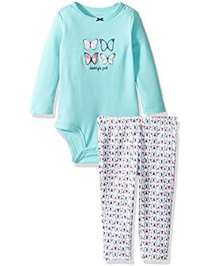 Baby Girls' Bodysuit Pant Sets 121g819