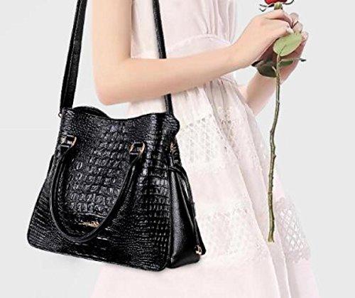 Bag Modello Moda Del Casuale Di Coreana Donne Sacchetto Spalla Nera Messenger Coccodrillo F7qwgdpp
