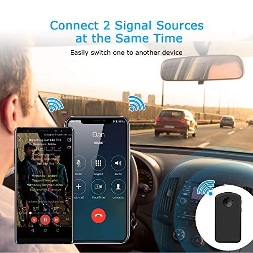 3.5mm Aux-in Car Stereo System Non Bluetooth Earbuds Headphone Headset Desktop Speaker Wireless Audio Adapter w//Mic for Hands-Free Calling MUIFA Bluetooth Receiver//Car Kit