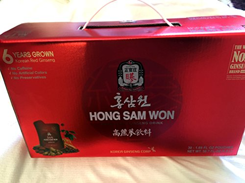 Hong Sam Won Korean Red Ginseng Drink – 50.7 Oz – Pouches/ Giftset