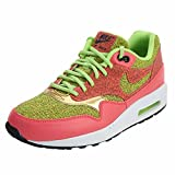 NIKE Women's Air Max 1 SE Ghost Green/Hot Punch 881101-300 (Size: 9.5) For Sale