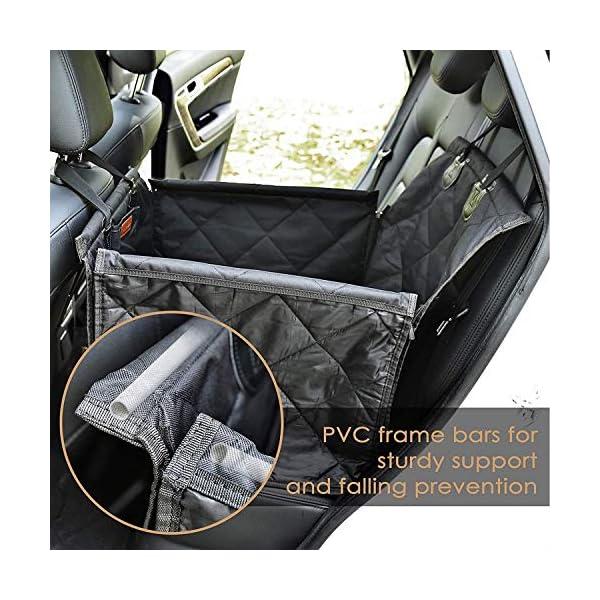 Looxmeer Hunde Autositz für Kleine Mittlere Hunde, Hundesitz Auto Autositzbezug mit Sicherheitsgurt und Verstärkter…