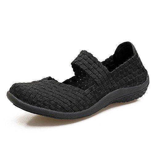Mode Filles Femmes Respirantes Shoes Pour Occasionnels Black Chaussure Des Les 551 La Beach Légères Dc xq78wfEI