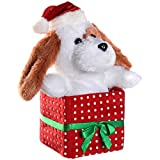 WeRChristmas Musical Dancing Dog With Flapping Ears Christmas Decoration, 20 Cm - White