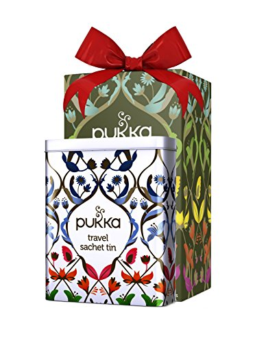Pukka Green Collection Organic Tea Gift Tin Special Travel Edition | 5 Assorted flavors - 20 Organic Enveloped Tea Bags