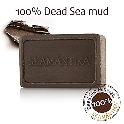 Dead Sea Mud Soap Revitalizing Natural – Nourishing Mineral Bar Soap for Face and Body – Lemongrass Soap Infused with Jojoba Oil, Borage Oil, Calendula Oil, Olive Fruit Oil by SEAMANTIKA