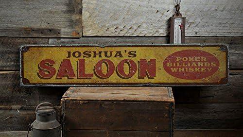 Saloon Letrero De Madera, personalizados Bar propietario nombre ...