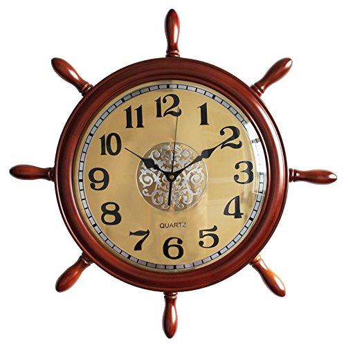 20インチ舵クロックリビングルームミュート創造的な家の装飾 ( 色 : イエロー いえろ゜ ) B075WTHMLL イエロー いえろ゜ イエロー いえろ゜