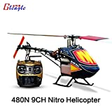 Gleagle 480N 2.4G 9CH RC Fuel Helicopter RTF RC NItro helicopter 15Engine 180CC gasolin helicopter 60A ESC/Carbon fiber
