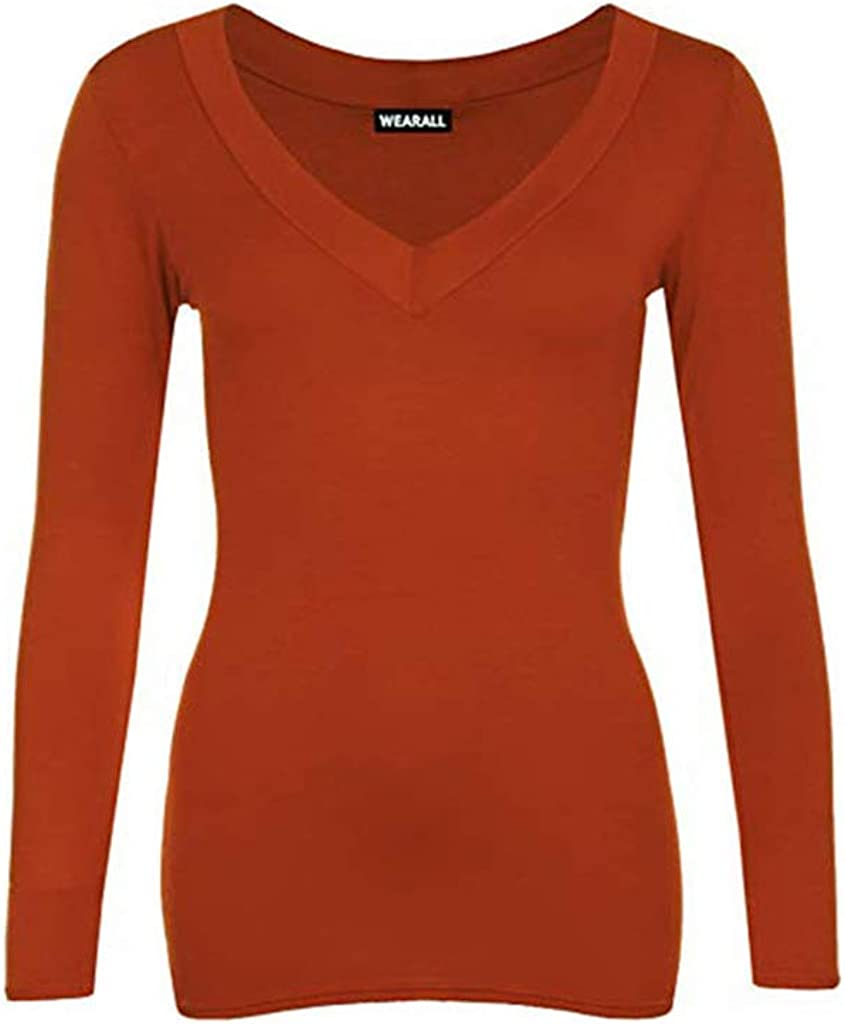 Colour Rust Plus Size Tops 16//18//20//22 Authentic Ladies Scoop Neck