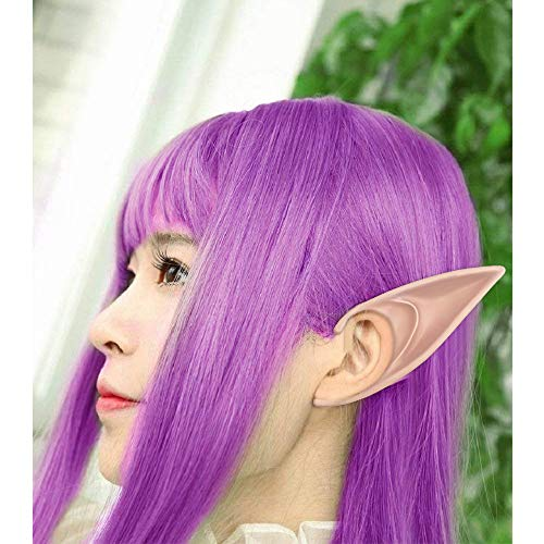 wodceeke Soft Elf Ears, Comfortable Reusable Pointed Prosthetic Tips Ear Decoration for Cosplay & Christmas Party (1 Pairs) by wodceeke (Image #2)