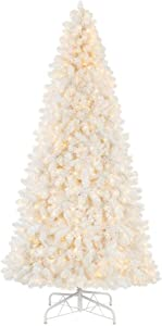 Home Accents Holiday 9 ft Uptown Noble Fir LED Pre-Lit Artificial Christmas Tree with 900 Color Changing Micro Dot Lights with 8 Functions