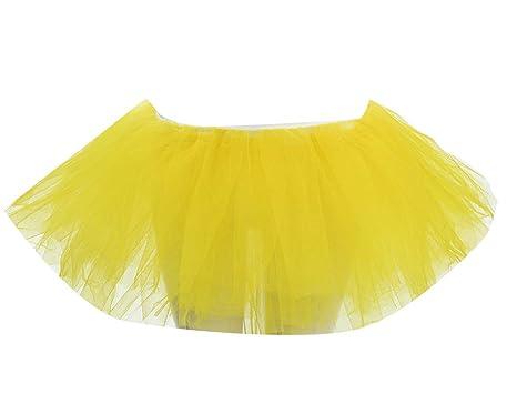 Faldas Tul Mujer Cortas Tutus Ballet Mini Falda Vestidos: Amazon ...