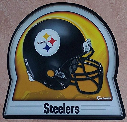 FATHEAD Pittsburgh Steelers Team Helmet Logo Official NFL Vinyl Wall Graphic 16