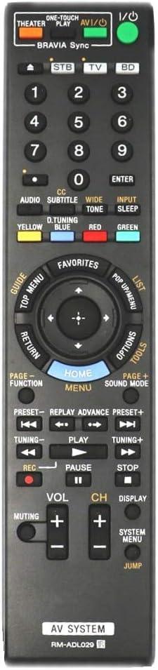 Calvas RM-ADL029 Remote Control For Sony Blu-ray Disc/DVD Home Theatre System BDV-IZ1000W BDV-HZ970W