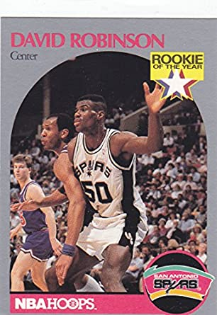 1990 91 Nba Hoops David Robinson Rookie Card At Amazons