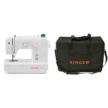 Singer Promise 1409 - Máquina de coser mecánica, 9 puntadas, 120 V, color blanco + Funda para máquina de coser, color negro: Amazon.es: Hogar