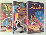 Walt Disney's 3 pack: Aladdin and  King of Thieves (1996), Return of Jafar (1994), Aladdin (1992) [VHS Tape]