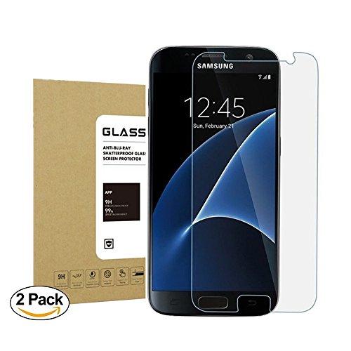 Galaxy S7 Panzerglas Schutzfolie Acoverbest [Ultra Transparenz] [Full HD] [Einfache Installation] [Anti-Fingerabdruck] 9H Härtegrad Displayschutzfolie Schutzfolie Schutzglas Für Samsung Galaxy S7