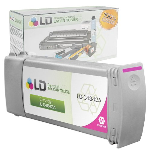 LD Remanufactured Replacement for HP 83 / C4942A Magenta Ink Cartridge for DesignJet 5000 Series, 5000 UV, 5000ps UV, 5500 UV, 5500PS UV (Uv 5500ps Ink)